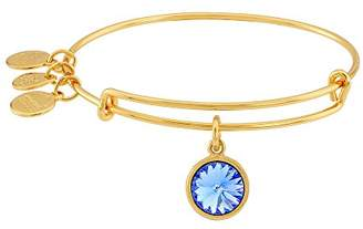 "Alex and Ani Bangle Bar"" September Imitation Birthstone Gold-Tone Expandable Bracelet"