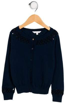 Little Marc Jacobs Girls' Knit Sequin Cardigan
