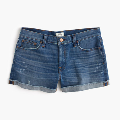 J.Crew Denim paint-splattered short