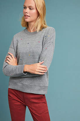 Current Air Embroidered Polka Dot Sweatshirt
