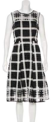 Milly Checker Pattern Pleated Dress w/ Tags