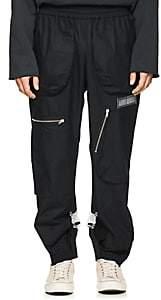Off-White c/o Art Dad Men's Shuttle Cotton Poplin Track Pants - Black
