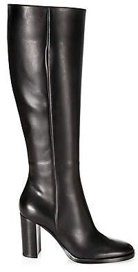Gianvito Rossi Women's Calf-High Leather Boots