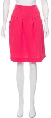 Oscar de la Renta Wool Knee-Length Skirt w/ Tags
