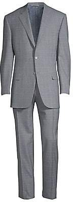 Canali Men's Tonal Windowpane Wool Suit