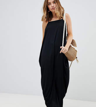 Asos DESIGN Petite tab back drape hareem maxi dress