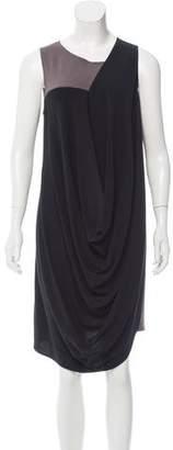 Zero Maria Cornejo Contrast Midi Dress