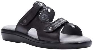 Propet Leather Slide Sandals with Ortholite Foam - Marina