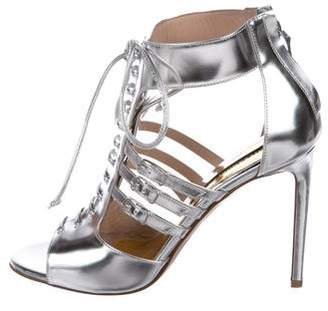 Alexandre Vauthier Leather Caged Sandals
