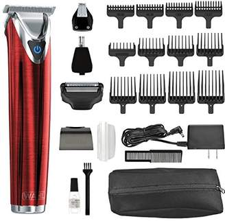 Wahl Clipper Stainless Steel Lithium Ion Plus Beard Trimmer Kit No.9864R Cordless Rechargeable Men's Grooming Kit for Haircuts and Beard Trimming