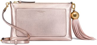 Tory Burch METALLIC TASSEL CROSS-BODY
