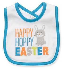 "Carter's Baby Boys' White ""Happy Hoppy Easter"" Bib"