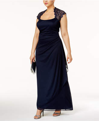 Xscape Evenings Ruched Lace Gown