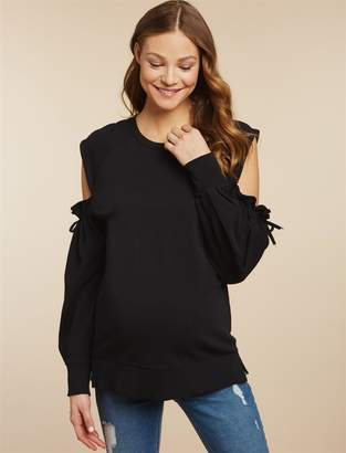 Jessica Simpson Motherhood Maternity Cold Shoulder Maternity Sweatshirt