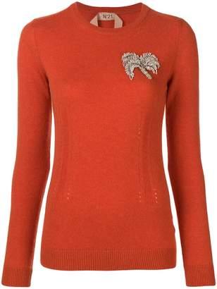 No.21 cashmere embellished jumper