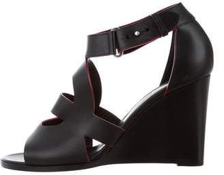 Hermes Leather Cutout Wedges