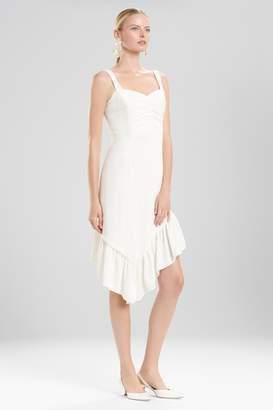 Josie Natori Plisse Asymmetrical Ruffle Dress