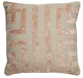 Jaipur Nikki Chu By Living Ordella Beige/Pink Geometric Poly Throw Pillow 22""