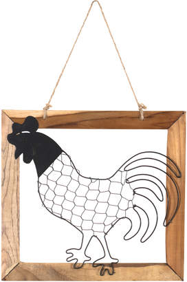 Highst. Rooster in Wooden Frame Hanging Wall Accent