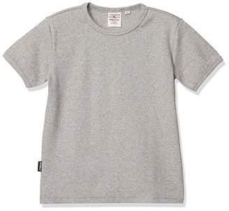 Avirex (アヴィレックス) - [アヴィレックス] Tシャツ KID-S DAILY RIB CREWNECK TEE 6383502 ボーイズ 14 GREY 日本 120 (日本サイズ120 相当)