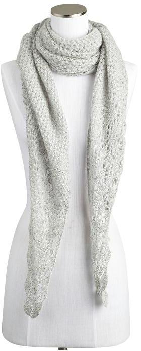 Juicy Couture Spun by Subtle Luxury Triangle Open Weave Scarf