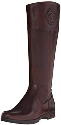 Rockport Women's Tristina Rosette Tall Boot - Wide Calf B Sugar Cas Leather WL WC Boot