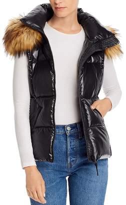 Aqua Faux Fur-Trim Hooded Puffer Vest - 100% Exclusive