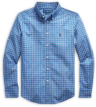 Ralph Lauren Childrenswear Boy's Plaid Cotton Collared Shirt