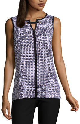 Liz Claiborne Sleeveless Grommet Knit Blouse