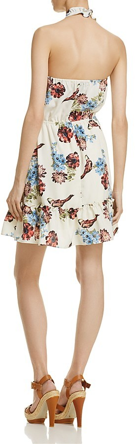 AQUA Floral Halter Dress - 100% Exclusive 2