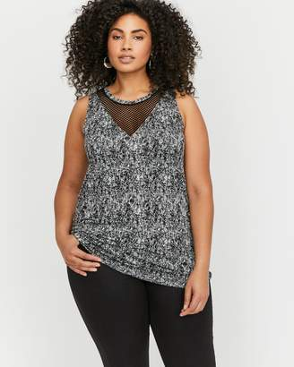 L&L Sleeveless Knitted Mesh Top