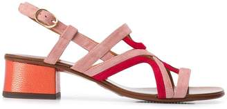 Chie Mihara contrast open-toe sandals