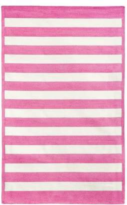 Pottery Barn Teen Capel Cottage Stripe Rug, 3'x5', Bright Pink