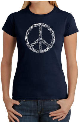 LOS ANGELES POP ART Los Angeles Pop Art The Word Peace In 77 Languages Graphic T-Shirt