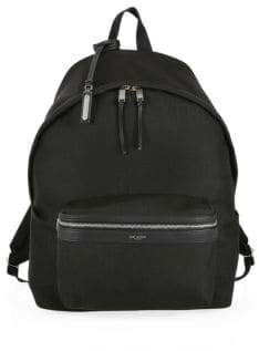 Saint Laurent Logo City Backpack