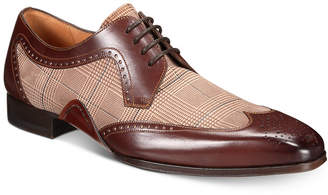 Mezlan Men's Two-Tone Printed Oxfords, Created for Macy's