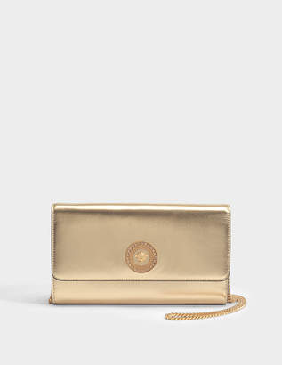 Versace Tribute Icon Evening Bag in Gold Nappa Leather