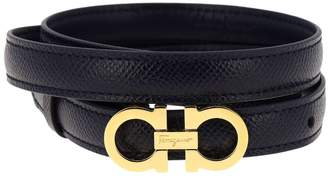 Salvatore Ferragamo Belt Adjustable Mini Gancini Belt In Genuine Fancy Leather