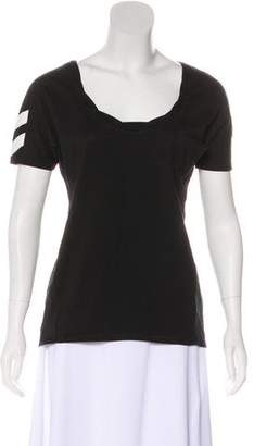 Pam & Gela Silk Twist Collar T-Shirt w/ Tags