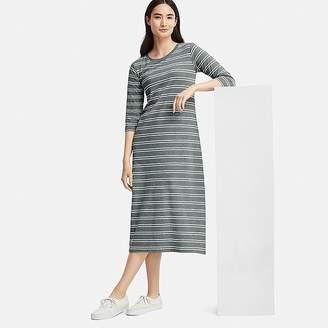 Uniqlo Women's Striped 3/4 Sleeve Bra Dress (online Exclusive)