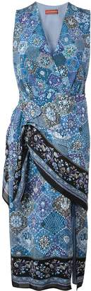 Altuzarra mosaic print wrap-around dress
