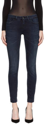Dolce & Gabbana Blue Five-Pocket Skinny Jeans