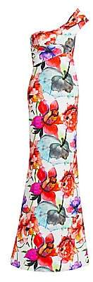 Chiara Boni Women's Bertinka Floral One-Shoulder Column Gown