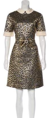 Gucci Metallic Jacquard Dress