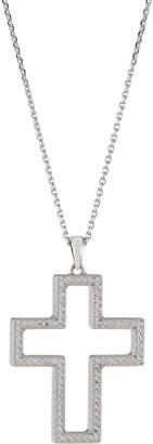 Chopard 18k White Gold Diamond Cross Pendant Necklace