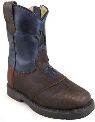 SMOKY MOUNTAIN Smoky Mountain Kid's Autry Side Zipper Oil Distress Leather Cowboy Boot Toddler