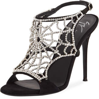 Giuseppe Zanotti High Dressy Spider Web Sandal