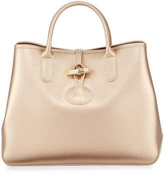 Longchamp Roseau Leather Shoulder Tote Bag