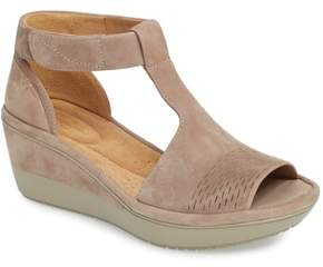 Clarks R) Wynnmere Avah T-Strap Wedge Sandal