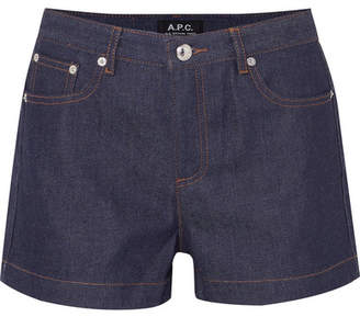 A.P.C. High Standard Denim Shorts - Dark denim